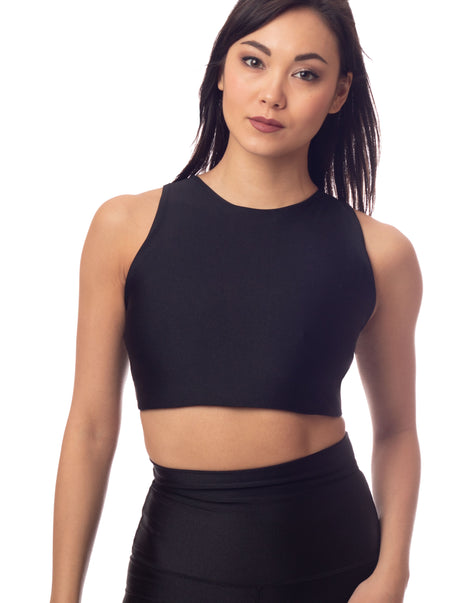 ultraluxe black lustrous crop top