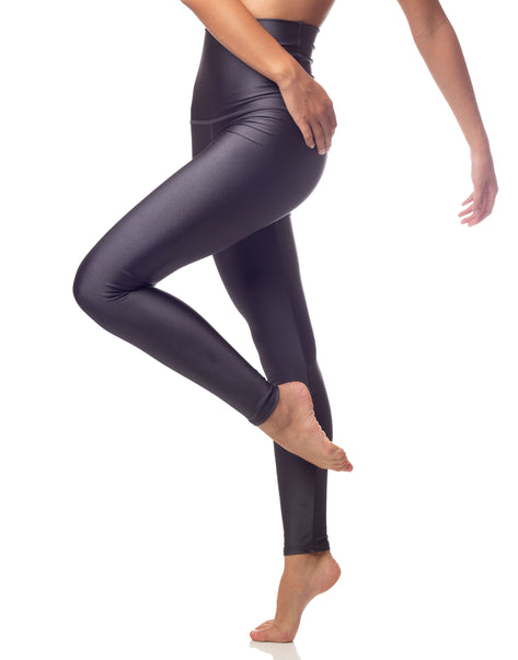 ultraluxe graphite pewter lustrous high waist legging