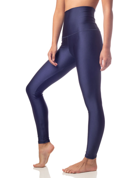 ultraluxe navy lustrous high waist legging