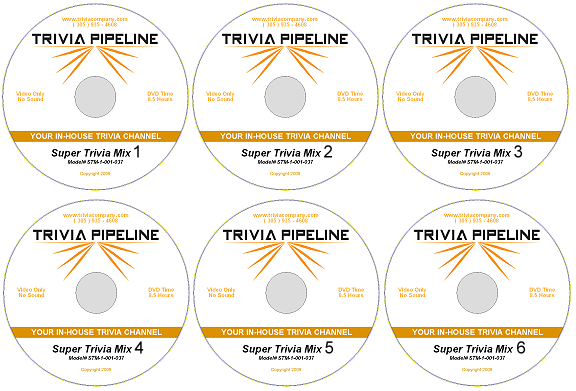 Trivia Pipeline Starter Pack 6 DVDs