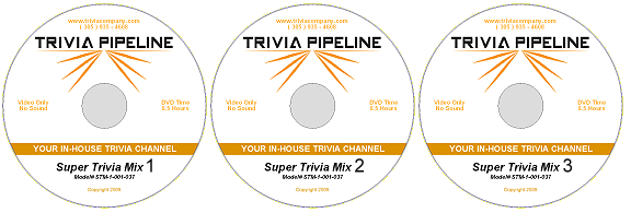 Trivia Pipeline 25 Hour DVD Package 1-2-3