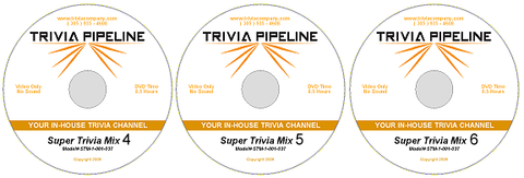 Trivia Pipeline 25 Hour DVD Package 4-5-6