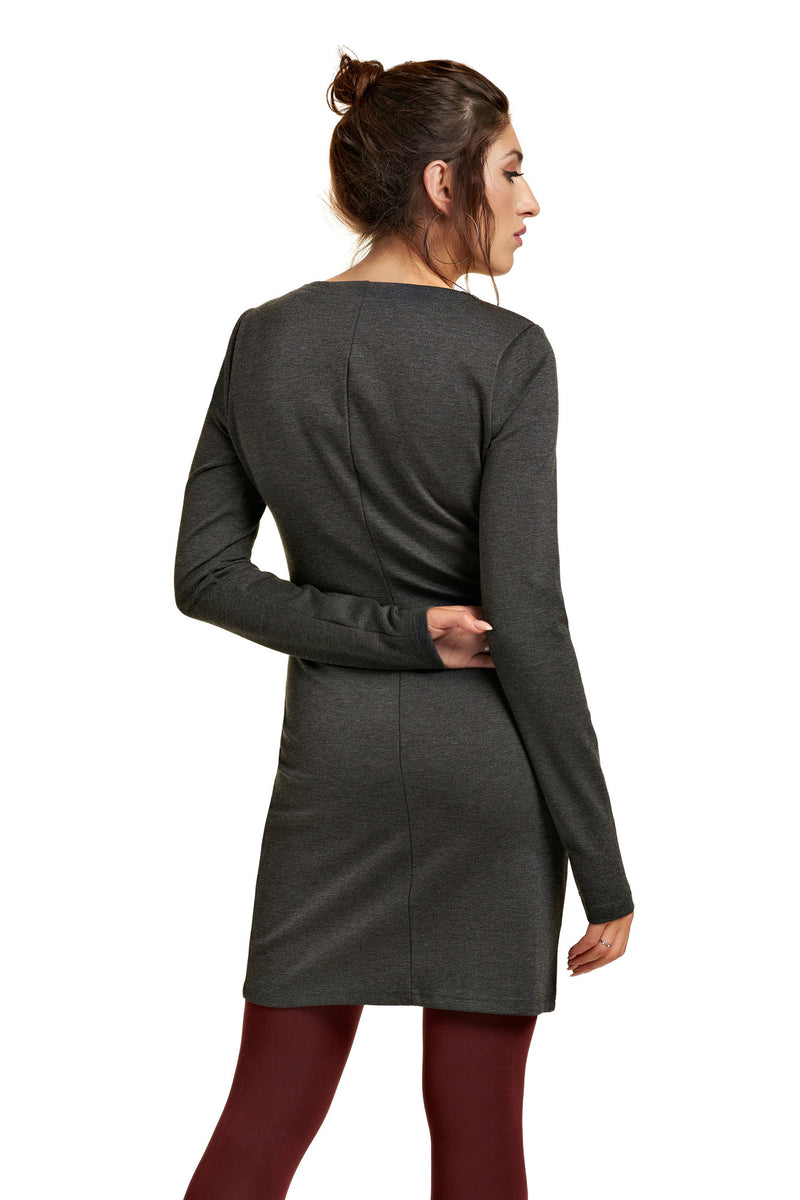 Robe extensible à imprimés ANYSSA Grey Heather