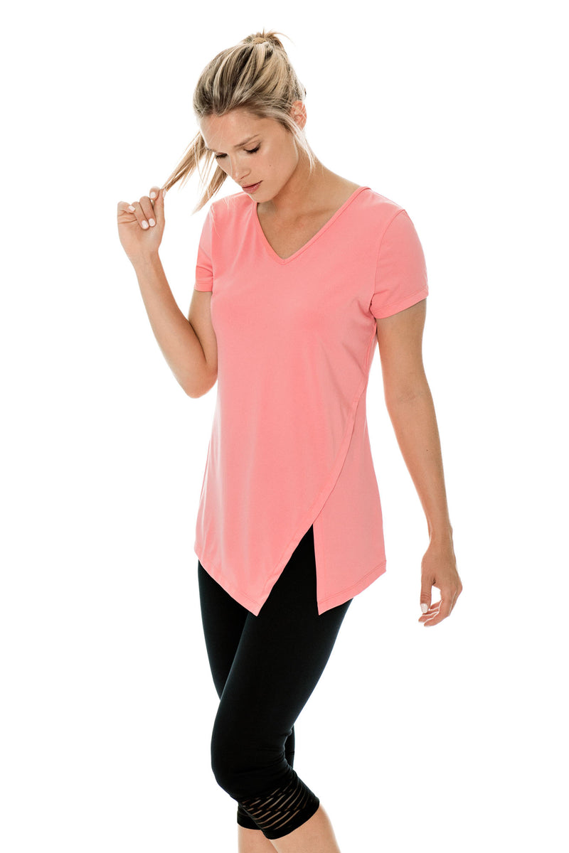 T-shirt ultra performant et anti UV LAKAH Peach