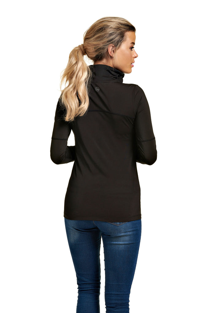 Chandail col montant activewear EVY Black