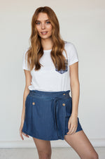 Jupe-Short Tencel AYANA Blue Denim SP21