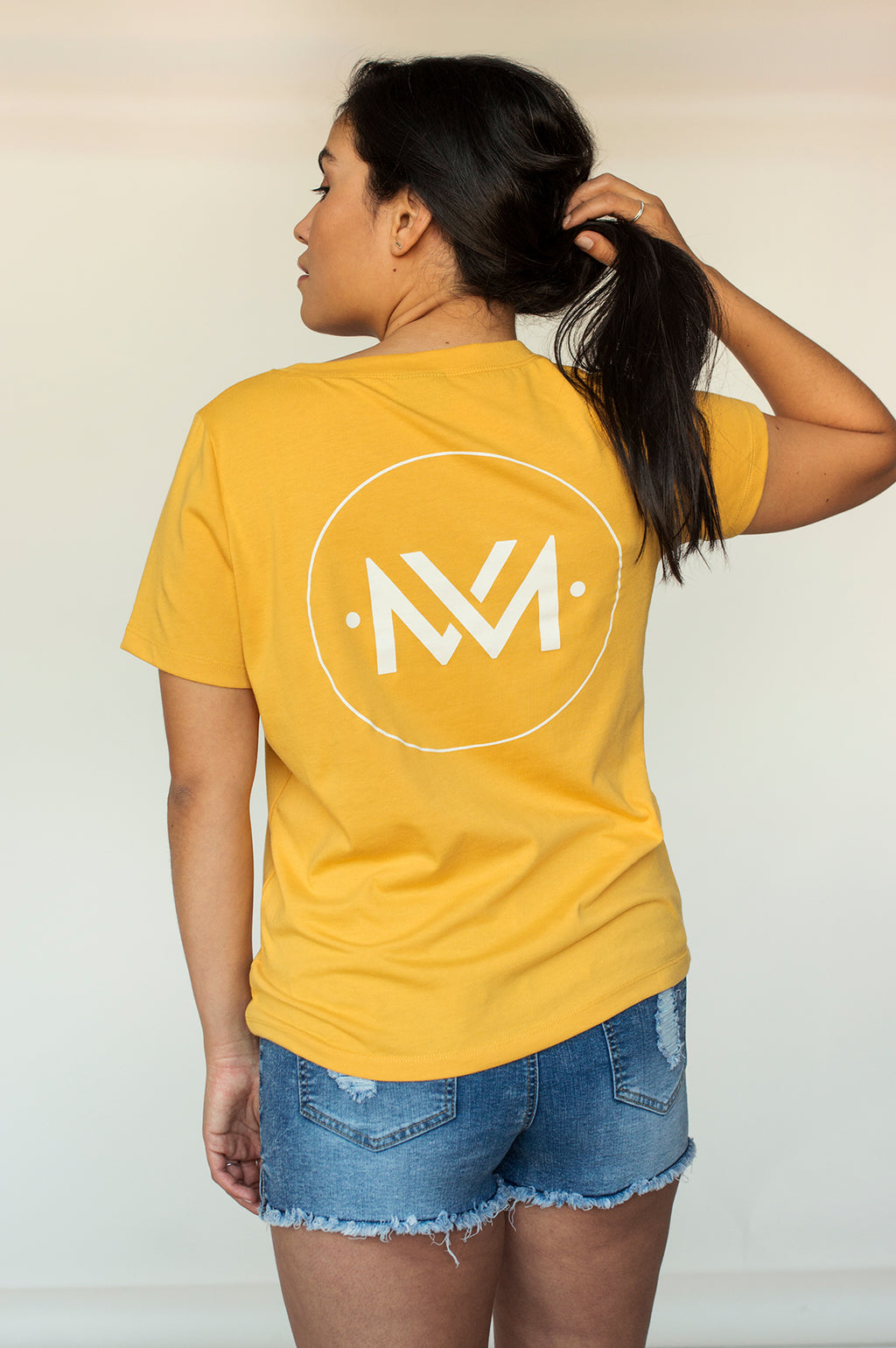 T-shirt AMALIE S21 Logo Yellow