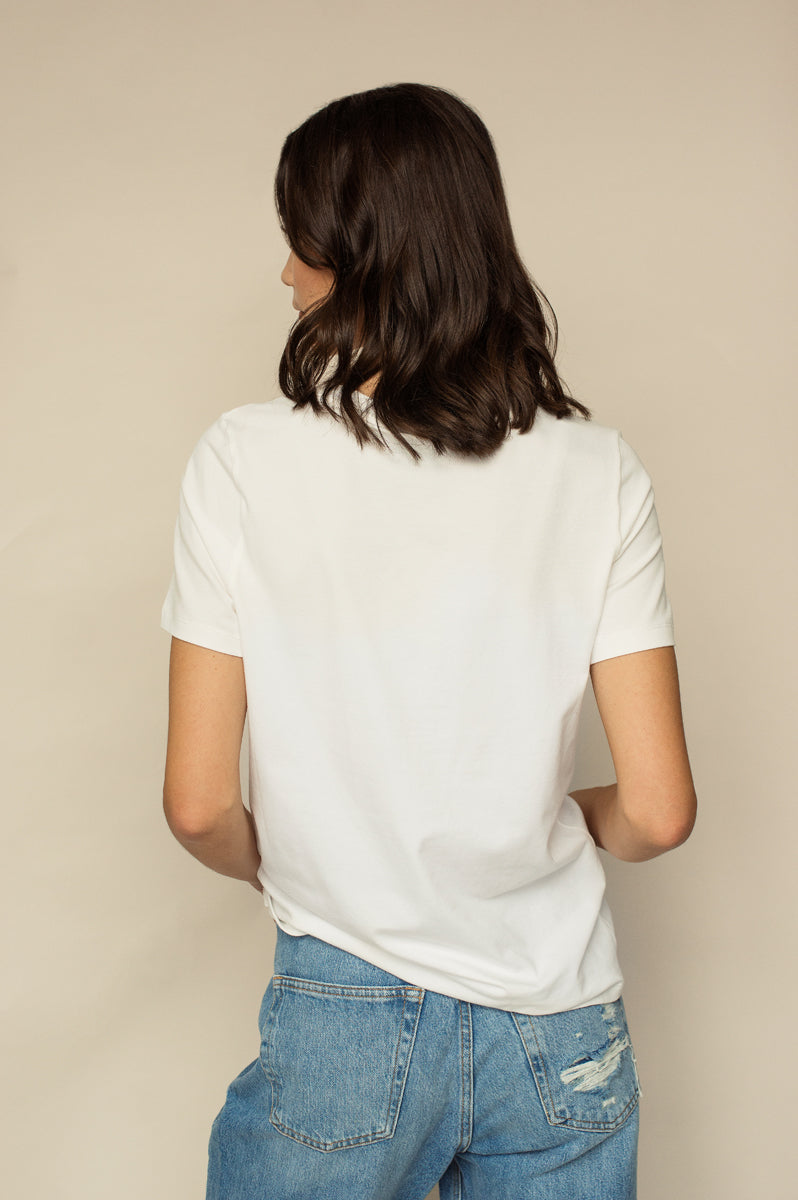 T-shirt Coton Bio AMALIE Naturel White