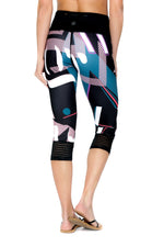 Legging ¾ performant et anti UV LOIKA Lettering