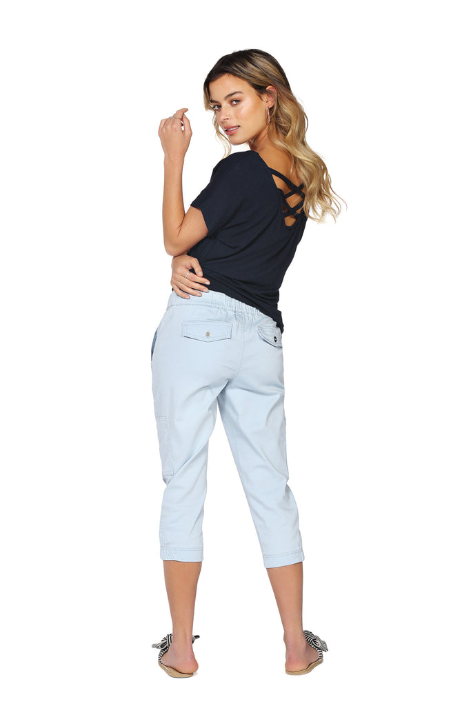 Pantalon 3/4 extensible QUINCY Light Blue