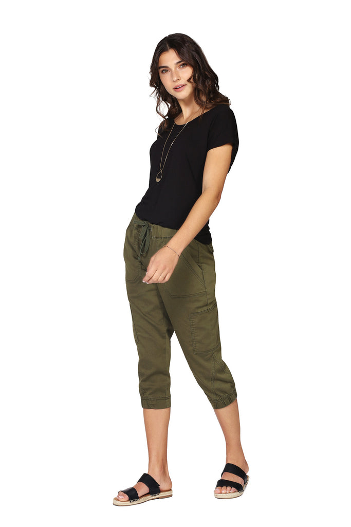 Pantalon 3/4 extensible QUINCY Kaki