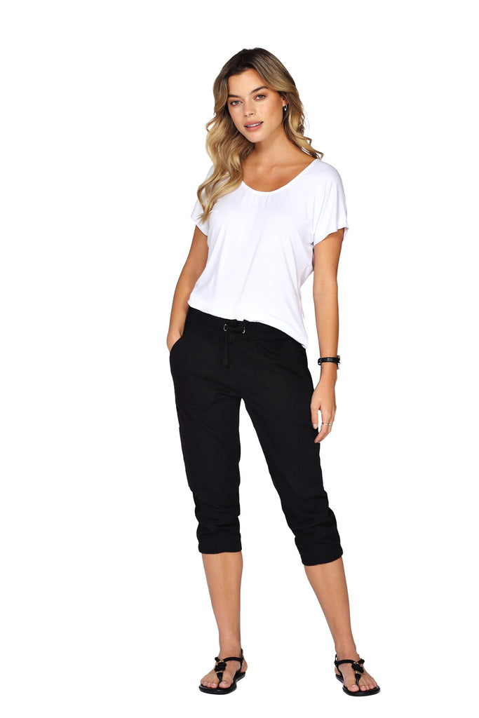 Pantalon 3/4 extensible QUINCY Black