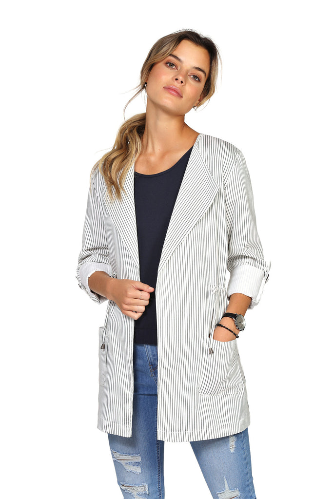 Veste structurée extensible ALEXIA Stripes