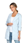 Veste structurée extensible ALEXIA Light Blue