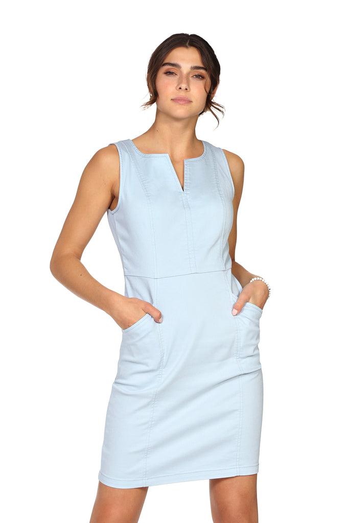 Robe extensible JOANA Light Blue