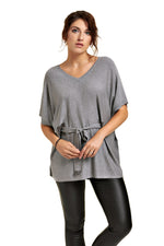 Chandail poncho ajustable KIMIKO Grey Heather