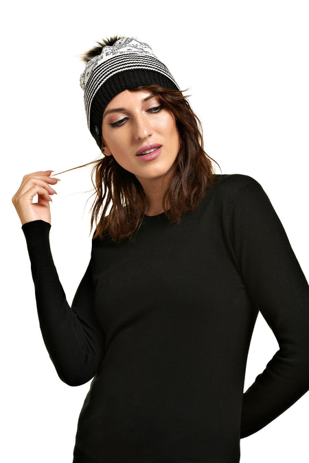 Tuque pompon détachable ALEKSA Slate Green
