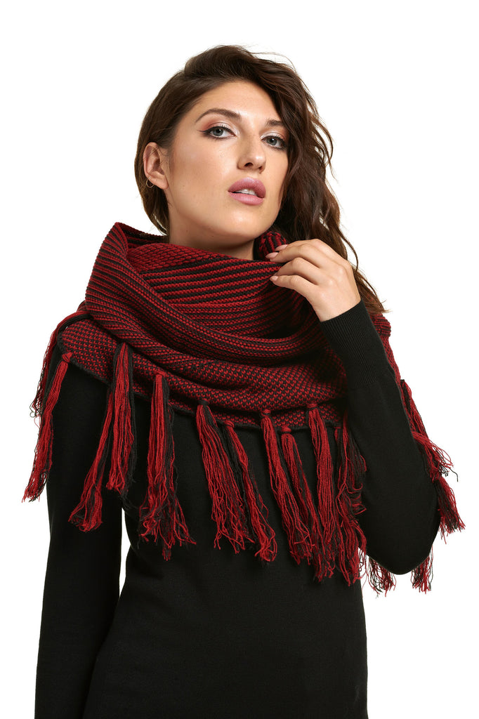 Foulard bande ou éternité NIXIE Dark Red