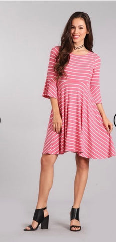 Bell Sleeve Jersey Dress
