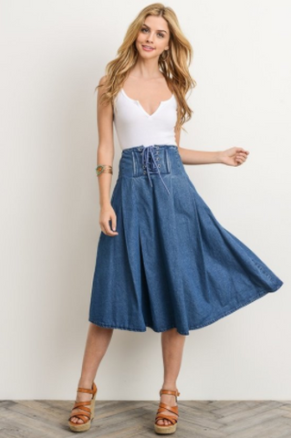 Gilli Denim Circle Skirt