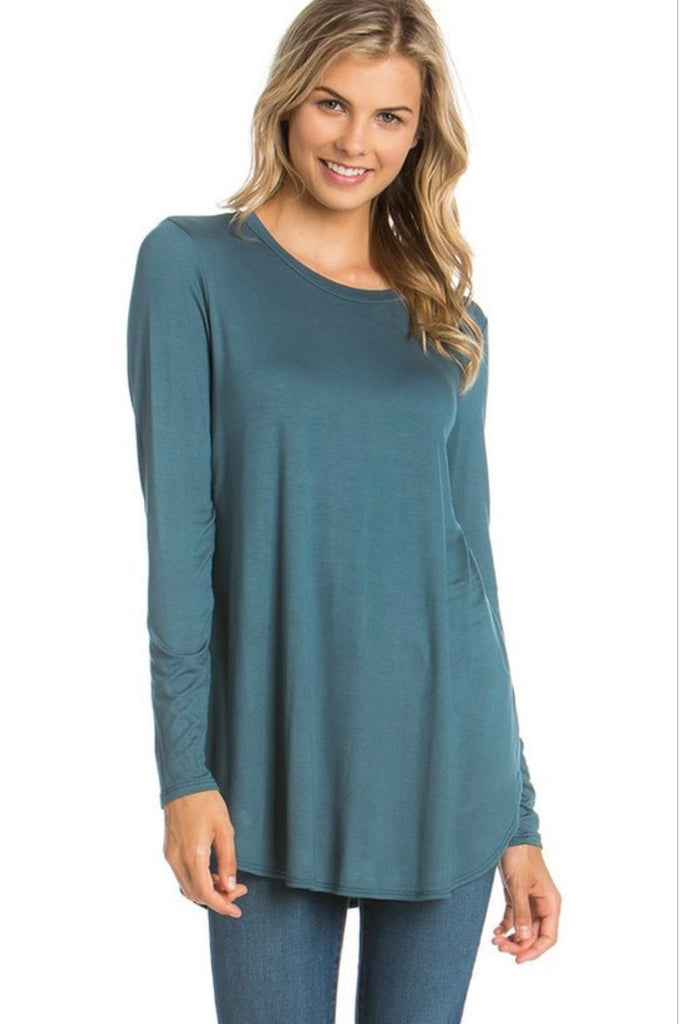 Solid Teal Tunic