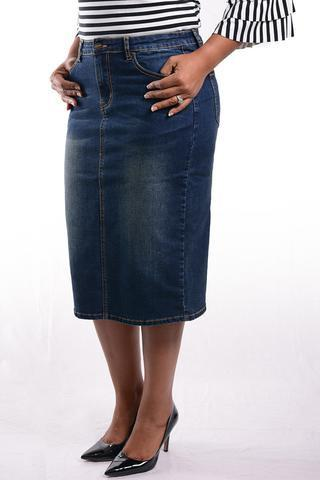 Jade Mackenzie Dark Denim Skirt