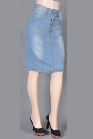 Be-Girl High Waist Denim Skirt