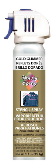 Stencil Paint Gold Glimmer 73.9g (2.5 oz)
