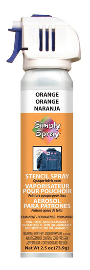 Stencil Paint Orange 73.9g (2.5 oz)