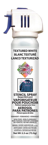 Stencil Paint Textured White 73.9g (2.5 oz)