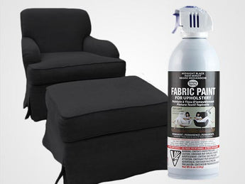 Midnight Black Permanent Fabric Paint For Upholstery