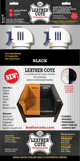 Black Leather Cote- 2 Part Kit