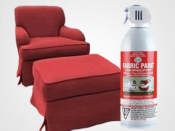 Brite Red Permanent Fabric Paint For Upholstery