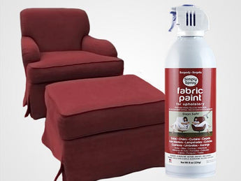 Burgundy Permanent Fabric Paint For Upholstery