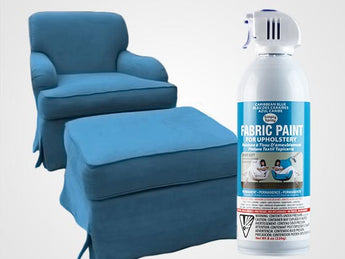 Caribbean Blue Permanent Fabric Paint For Upholstery