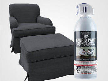 Charcoal Grey Permanent Fabric Paint For Upholstery