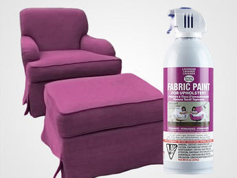 Lavender Permanent Fabric Paint For Upholstery