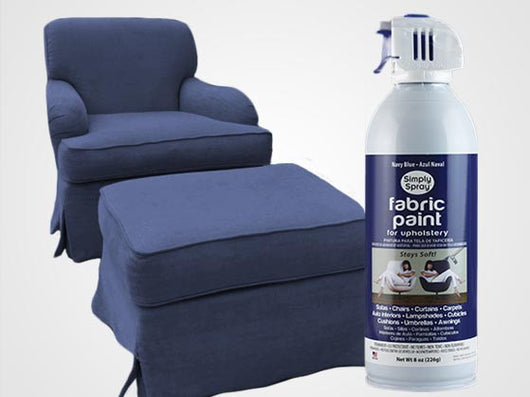 Navy Blue Permanent Fabric Paint For Upholstery