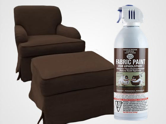 Saddle Brown Permanent Fabric Paint For Upholstery
