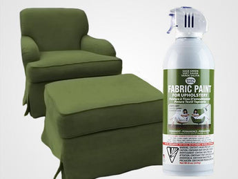 Sage Green Permanent Fabric Paint For Upholstery