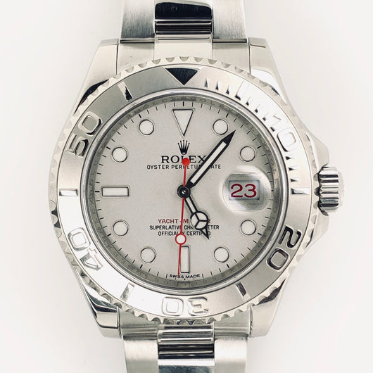 Rolex Yachtmaster 40mm Platinum New Model Roulette Calendar Stainless Steel Oyster Band