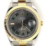 New Model Rolex Datejust II 41mm 18kt Gold and Steel Oyster Band Watch