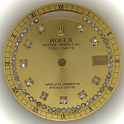 Rolex Day-Date Gold & Diamond Dial Custom