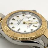 Rolex Yachtmaster 40mm Porcelain & Onyx Dial 18kt Gold & Steel