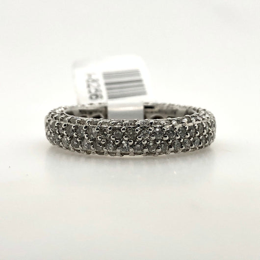 14kt White Gold Eternity Wedding Band