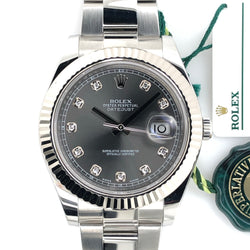 New Model Rolex Datejust II 41mm Diamond Silver Dial Steel Oyster Band