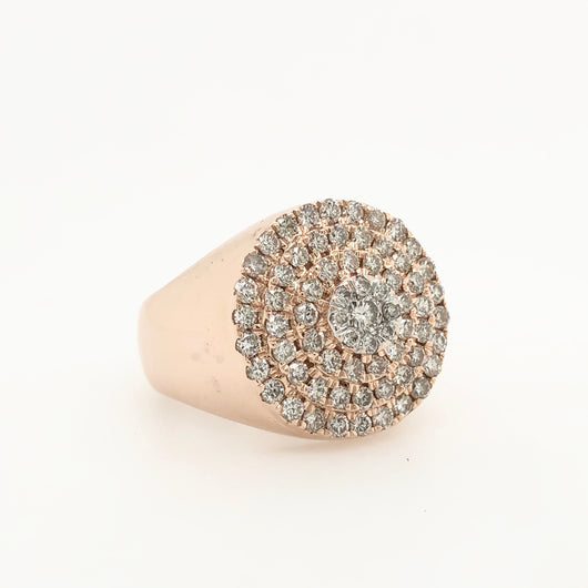 14kt Rose Gold Diamond Dome 2.00ct  Ring