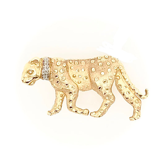 14kt Yellow Gold Leopard