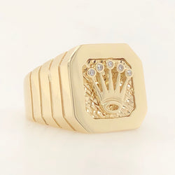 10kt Yellow Gold Crown Mens Ring