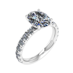 14kt Gold or Platinum Custom Engagement Ring .77ct